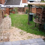 back garden before
