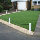 front lawn after